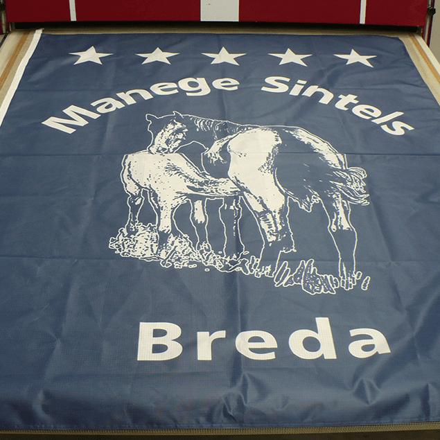 Textieldruk Vlag Manege Sintels Sport Print