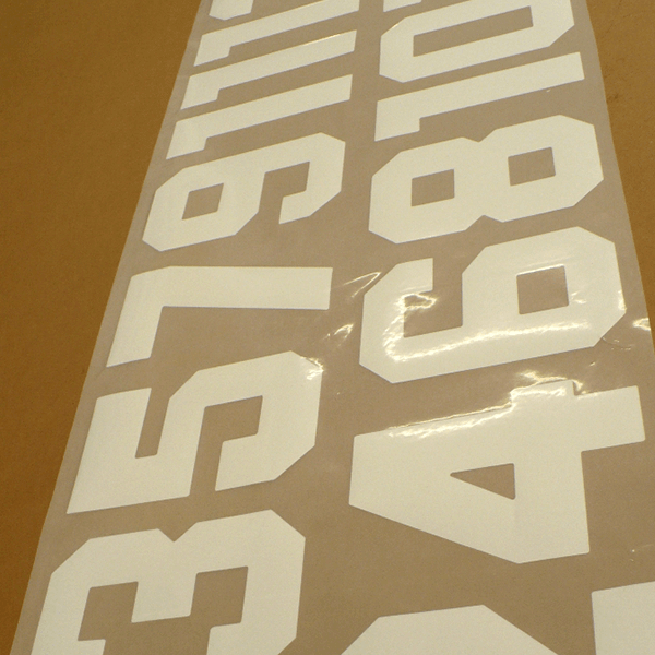 Snijflex Rugnummers Sport Print